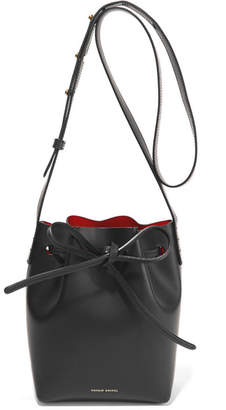 Mansur Gavriel Mini Mini Leather Bucket Bag - Black