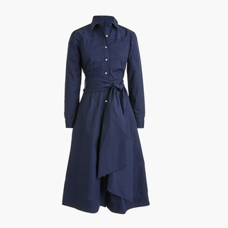 J.Crew Tie-waist shirtdress in cotton poplin