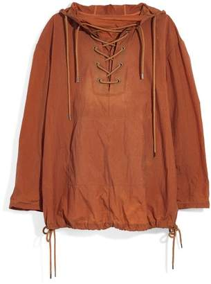 Madewell Lace-Up Popover Jacket