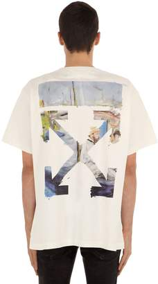 Off-White Printed Arrow Cotton Jersey T-Shirt