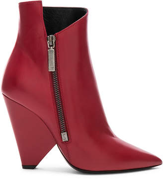 Saint Laurent Niki Ankle Boots in Hot Red | FWRD