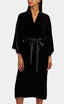 Nili Lotan Women's Rey Velvet Kimono Dress - Black