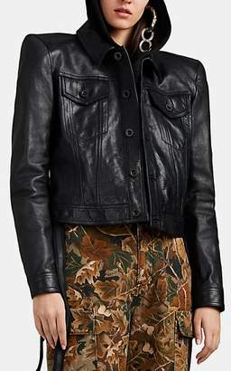 Taverniti So Ben Unravel Project BEN UNRAVEL PROJECT WOMEN'S CROP LEATHER JACKET
