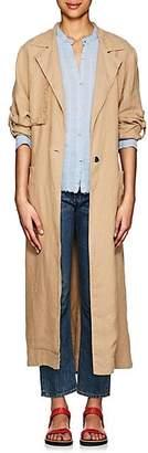 Raquel Allegra Women's Linen Trench Coat - Camel
