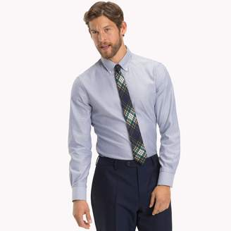 Tommy Hilfiger Cotton Poplin Stripe Dress Shirt