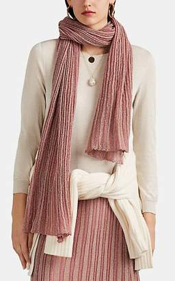 Missoni Women's Operato Metallic Striped Rib-Knit Scarf - Pink