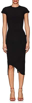 Victoria Beckham Women's Bonded Crepe Zip-Back Dress - Black