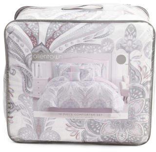 10pc Pansy Comforter & Sheet Set
