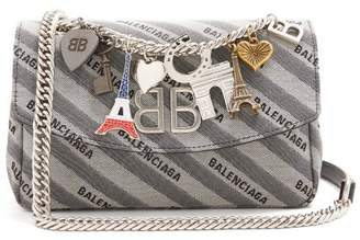 Balenciaga Bb Round S Bag - Womens - Grey