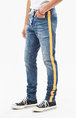 PacSun Stacked Skinny Moto Side Stripe Jeans