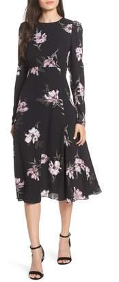 Chelsea28 Floral Print Midi Dress