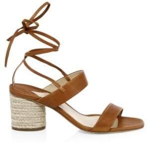 Paul Andrew Women's Myer Block Heel Espadrilles - Tan - Size 35 (5)