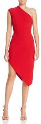 Aqua One-Shoulder Scuba-Crepe Dress - 100% Exclusive