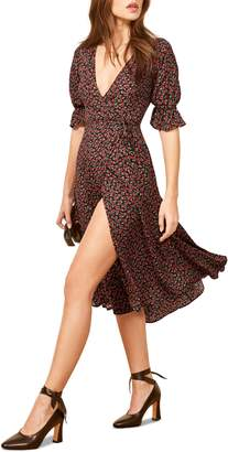 Reformation Judith Midi Wrap Dress