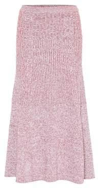 Victoria Beckham Wool-blend midi skirt