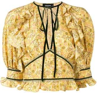 DSQUARED2 floral print blouse