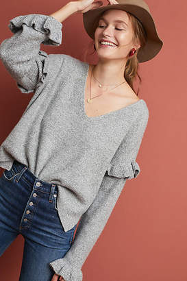Cupcakes And Cashmere Gia Ruffled Sweater