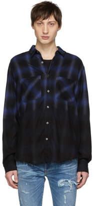 Amiri Blue and Black Forever Plaid Shirt