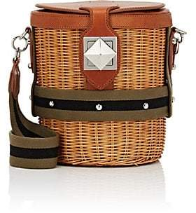 Sonia Rykiel Women's Le Jardin Wicker & Leather Bucket Bag - Neutral
