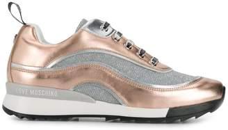 Love Moschino lurex runner sneakers