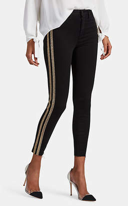 L'Agence Women's Margot Embellished High-Rise Skinny Jeans - Black