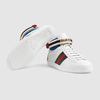Gucci stripe Ace high-top sneaker