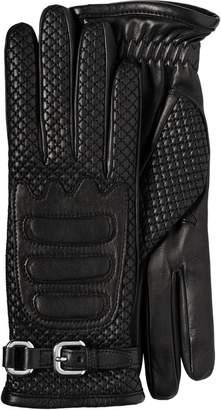 Prada Nappa leather and fabric gloves