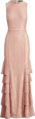 Ralph Lauren Lace Sleeveless Gown