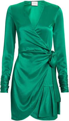 Alexis Komosa Emerald Wrap Mini Dress