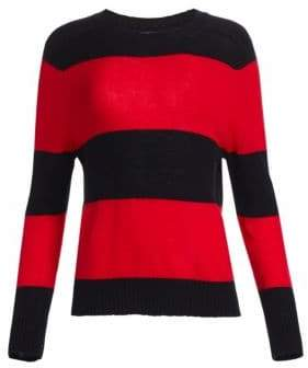 RE/DONE Women's Stripe Crew Neck Sweater - Black Red - Size XS