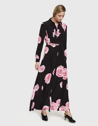 Ganni Fayette Silk Maxi Dress