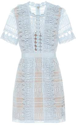 Self-Portrait Guipure lace minidress