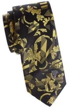 Versace Textured Abstract Silk Tie