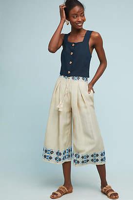 Endless Rose Kimpton Embroidered Wide-Leg Pants