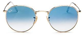 Ray-Ban Unisex Gradient Round Sunglasses, 53mm