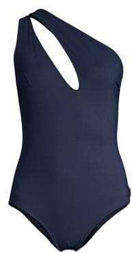 Shan Shan Women's Les Essentials One-Piece Swimsuit - Navy - Size 6