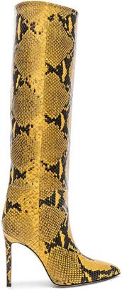 Paris Texas Stiletto Knee High Boot in Yellow Snake | FWRD