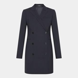 Theory Good Wool Pinstripe Blazer Dress