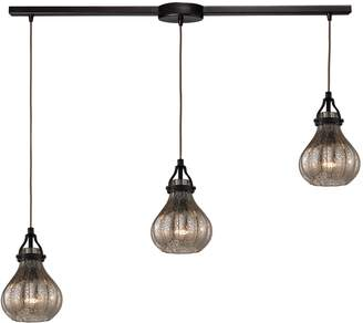 Elk Lighting Danica 3-Light Mercury Glass Pendant