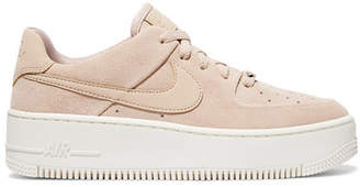Nike Air Force 1 Suede Sneakers - Blush