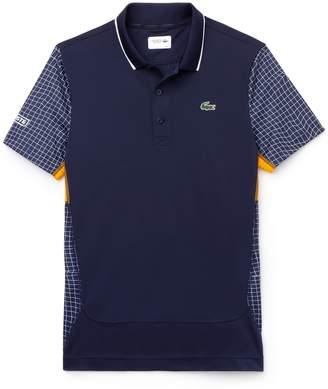 Lacoste Men's SPORT Net Print Pique Tennis Polo