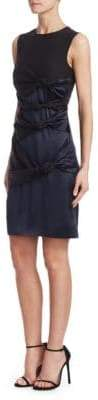 Victoria Beckham Victoria, Victoria, Women's Twisted Sleeveless Knot Dress - Black/Navy - Size UK 12 (8)
