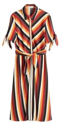 MANGO Bow shirt dress