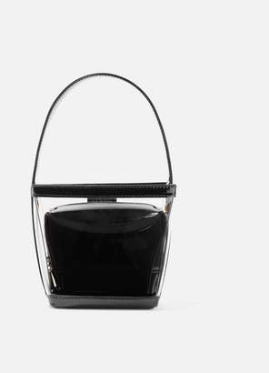STAUD - Edie Pvc And Patent-leather Tote - Black