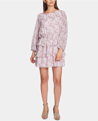 1 STATE 1.state Bloomsbury-Floral Ruffle-Skirt Dress