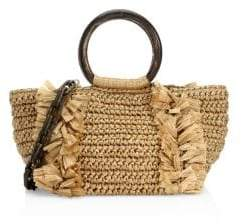 Carolina Santo Domingo Carolina Santo Domingo Women's Corallina Ring Tote - Ivory