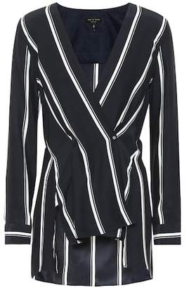 Rag & Bone Striped silk blouse