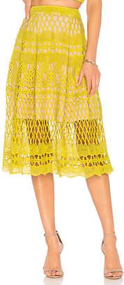 Endless Rose Guipure Lace Midi Skirt