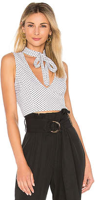 by the way. Edie Polka Dot Neck Tie Top