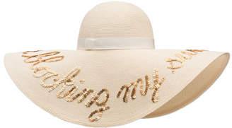Eugenia Kim Sunny Sequined Floppy Sun Hat, Ivory